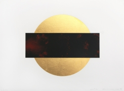 Lita Albuquerque Sun and Moon Trajectories #5, 1995 Lithograph with gold leaf appliqué