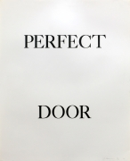 Bruce Nauman Perfect Door, 1973 Lithograph (triptych), ed. 50