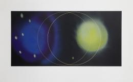Lita Albuquerque Island Universes III, State II, 2002-2020 Lithograph with gold enamel appliqué