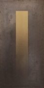 Eric Orr Gold to Lead Strip, 1979 Lead and gold leaf on wood backing, ed. 25