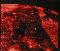 Eve Sonneman Motocross on Jupiter, 1988 Polaroid Sonnegram, ed. 3