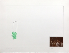 John Baldessari  Raw Prints (Green), 1976 Lithograph, hand-tipped color photograph and embossing