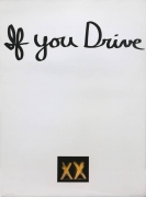 Chris Burden If You Drive, 1973 Lithograph with hand-colored appliqué