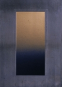 Eric Orr Blue Door, 1979 Embossed lead relief on wood backing, ed. 25