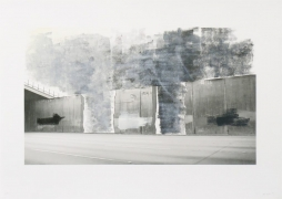 Ruben Ochoa Untitled, 2006 Lithographic monoprint with hand-painted appliqué, ed. 40, no. 26