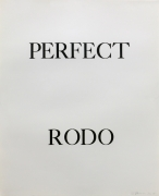Bruce Nauman Perfect Rodo, 1973 Lithograph (triptych), ed. 50