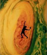 Eve Sonneman Tennis on Great Red Spot, 1988 Polaroid Sonnegram, ed. 2