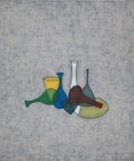 David Austen, Seven Glass Objects, 1993, oil on linen