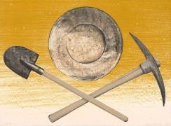 Ed Ruscha Pick Pan Shovel, 1980 Lithograph, ed. 100