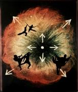 Eve Sonneman Kung Fu on Planetary Nebula, 1988 Polaroid Sonnegram, ed. 3