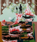 Lari Pittman This Landscape, beloved and despised, continues regardless, 1989 Lithograph, silkscreen, ed. 45