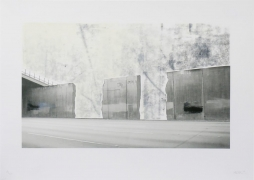 Ruben Ochoa Untitled, 2006 Lithographic monoprint with hand-painted appliqué, ed. 40, no. 29