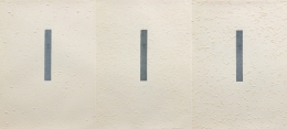 Marvin Harden A Line, Align, in Mind..., 1981 Lithograph (Triptych) on Arches Buff scraped with razor before printing