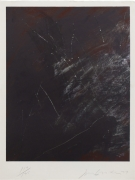 Joe Goode  Untitled (Slick Watts), 1977  Lithograph with razor blade impression by artist