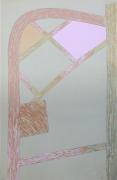 Craig Kauffman  Untitled, 1973  Silkscreen on vellum tracing