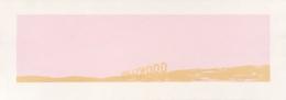 Ed Ruscha Pepto-Caviar Hollywood, 1970 Silkscreen with Pepto Bismol and caviar, ed. 50