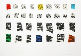 John Baldessari Two Assemblages (with R, O, Y, G, V, Transparent), 2003 Lithograph, silkscreen,