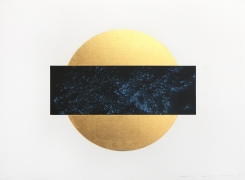 Lita Albuquerque Sun and Moon Trajectories #1, 1995 Lithograph with gold leaf appliqué