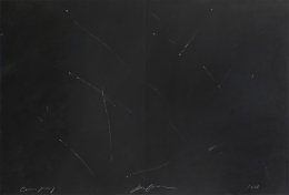Joe Goode  Untitled, 1978  Lithograph with razor blade impression by artist
