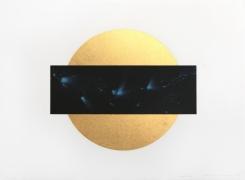 Lita Albuquerque Sun and Moon Trajectories #3, 1995 Lithograph with gold leaf appliqué