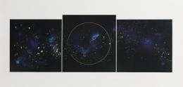 Lita Albuquerqu, Island Universes I, State II,, 2002-2020, Lithograph with gold enamel appliqué