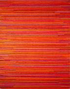 Paul Sharits  Buffalo IV, 1977, Acrylic on linen  60 x 48 in.  001-PS-77  $45,000
