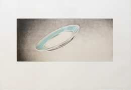 Ed Ruscha Domestic Tranquility: Plate, 1974 Lithograph, ed. 65