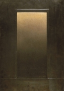 Eric Orr Gold Door, 1979 Embossed lead relief on wood backing, ed. 25