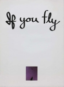 Chris Burden If You Fly, 1973 Lithograph