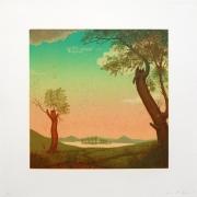 Joan Nelson Untitled (After Edward Hicks), 1993 Lithograph, silkscreen glaze