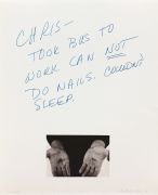 Chris Burden Untitled, 1974 Lithograph with hand-colored appliqué