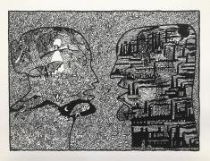 Derek Boshier, Two Different Landscapes, 2021