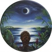ALONSA GUEVARA Self Portrait Facing the Moon, 2020
