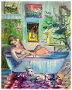 DEBORAH BROWN Bathtub Self-Portrait with Zeus, 2020