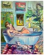 DEBORAH BROWN Bathtub Self-Portrait with Zeus, 2020