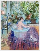 DEBORAH BROWN Bathtub Self-Portrait with Zeus 3, 2020