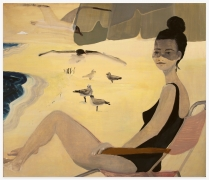 AUBREY LEVINTHAL Beach Lady with Cloud, 2020