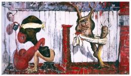 SAM MESSER Good Fences Make Good Neighbors, 1989 Expo Chicago 2021 Anna Zorina Gallery