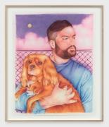 DANNY FERRELL Self-Portrait with River, 2020