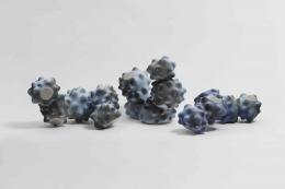 Eva Zethraeus Blue Coral and Purple Caterpillars