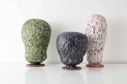 "Morten Løbner Espersen,(Danish, b.1965). Sculptures from Magic Mushrooms series, 2021. Dimensions vary: 15.75"" - 23.5"" H. Stoneware and glaze. Photo Joe Kramm"