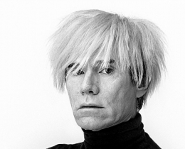 Photograph of Andy Warhol