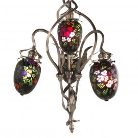 Art Nouveau Silver Chandelier