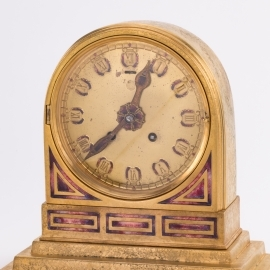 """Art Deco"" Pattern Mantle Clock"