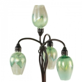 Four Light Lily Lamp