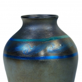 Black Decorated Vase