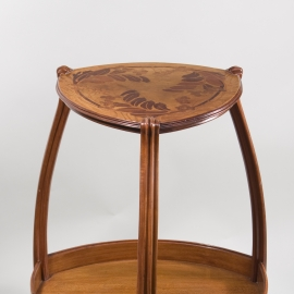 Art Nouveau Tri-Cornered Side Table