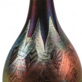 Long Neck Decorated Vase