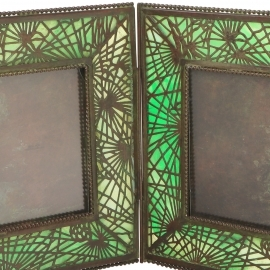 Pine Needle Double Picture Frame