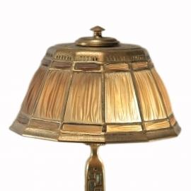 Abalone Linenfold Desk Lamp